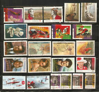 a stock page of recent used stamps from Canada(C-78)