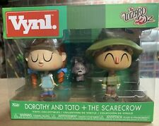 Funko Vynl Wizard of Oz Dorothy, Toto and the Scarecrow. New. NIB