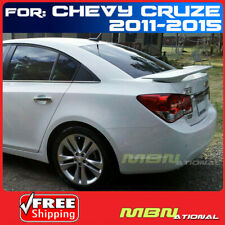 For 11 15 Chevy Cruze 4dr Sedan Rear Trunk Tail Wing Spoiler Primer Unpainted Fits Cruze