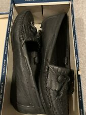 Black Leather Shoes Size: 6W US Women's Walkables Comfort Loafer NEW