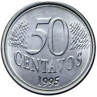 Brasilien - Münze - 50 Centavos 1995 - Kopf der Liberty