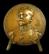 Médaille Adolphe Max Bourgmestre de Bruxelles & le coq cock 65 mm Devreese Medal