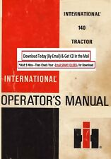 International Harvester Ih 140 Tractor Instruction Operator Maintenance Manual
