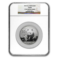 2012 China 5 oz Silver Panda PF-69 NGC - SKU #74636