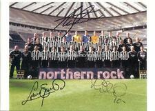 NEWCASTLE UNITED FC 2005-06 ALAN SHEARER MICHAEL OWEN & SOUNESS SIGNED (PRINTED)