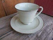 Vintage Noritake Honor Promise Me Bread Dessert Plate & Footed Tea Cup Green Ret