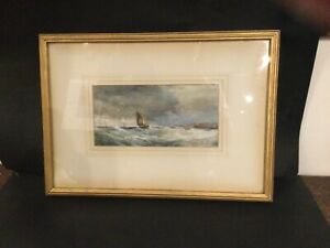 antique painting of sailing ship
