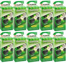10 Pack Fuji Quicksnap Flash 400 Disposable 35mm 27 Exp Camera Fresh