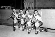 Andy Bathgate, Dean Prentice, Danny Lewicki,Wally Hergesheimer.NY Rangers 8x10
