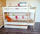 Hochbett Stock Etagen Doppelbett Kinderzimmer Rolrost Schublade Regale weiß rosa günstig