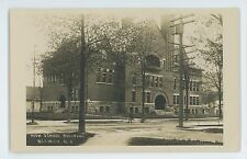 RPPC High School Building NORWICH NY Vintage New York Real Photo Postcard
