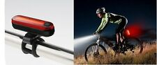 Rear USB Rechargeable Red Light - Tail Moon Lights Bright Lamp Aluminium 6 Modes