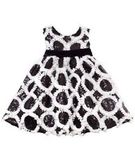 New Girls Rare Editions sz 18m Black White Sequins Dress Christmas Pageant $65