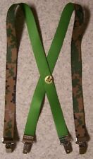 """Suspenders Children 1""""x30"""" FULLY Elastic Digital Woodland Camouflage NEW Made US"""