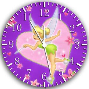 Disney Tinker Bell Frameless Borderless Wall Clock Nice For Gifts or Decor W235