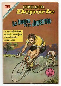 ESTRELLAS del DEPORTE #53 La Vuelta de la Juventud Cycling, Novaro Comic 1968