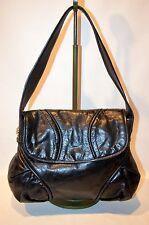 FRANCESCO BIASIA Marie Medium Leather Flap Hobo Shoulder Bag
