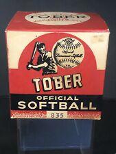 Vintage Tober Baseball Official Tournament Softball With Original Box #825 12""