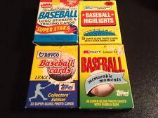Lot (4) 1980s MLB FACTORY BOXED Collector Baseball Sets, Topps & Fleer