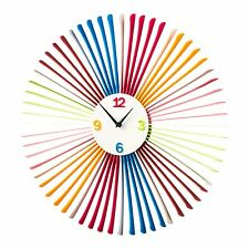 Premier Housewares 58cm Dia Multi Coloured Acrylic Decorative Design Wall Clock