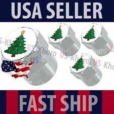 Christmas XMAS Tree Holiday Valves Stems Caps Covers Chromed Wheel Car Tire USA