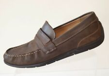 Ecco Men's 44/10-10.5 Brown Nubuck Leather Driving Loafer Moccasin Shoes