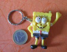 Vintage Sponge Bob Make Face 3D Figure Keychain Keyring Red Tie