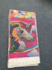 Unicorn  Table Cover Birthday Party Supplies NEW  pony table cover
