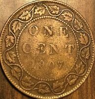 1907 CANADA LARGE CENT PENNY 1 CENT