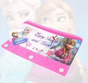 Disney Frozen 3 Ring Pencil Pouch Kids Girls Preschool Anna Elsa School Supplies