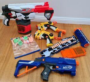 NERF GUN Bulk Bundle - Vortex, Retaliator, 2 x Firestrike Plus Darts & Disc Ammo