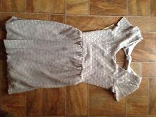 Lauren Conrad Sz Small Beige Lace dreamer cut out front Summer Dress $34