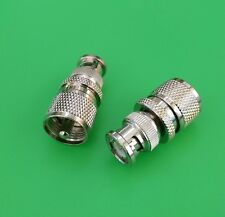 (10 PCS) UHF Male to BNC Male Connector - USA Seller