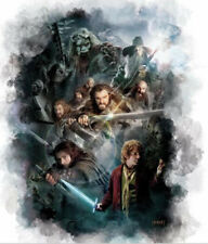 """THE HOBBIT CAST an Unexpected Journey wall sticker MURAL 1 large decal 35.5"""""""