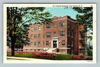 hometown gift Port Jervis New York vintage postcard Post Office home state decor historian gift for a friend 1920s NY travel