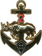 23° B.I.M.a, 2° Escadron, rhinocéros doré, tirage 2010, Boussemart (0636)
