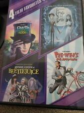 Beetlejuice Corpse bride 00006000  Charlie and the chocolate factory Pee-wee 4 movies!