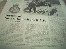 magazine cutting 1975 history no 111 squadron raf rawlings 2 page