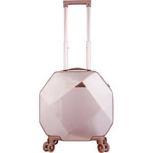 "Kensie Luggage Gemstone 20"" Dual Spinner Carry On Rose Gold KN-47220-PA-RG"