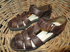 Mootsies Tootsies low heel brown leather gladiator sandals *sz. 7.5 - 8 M