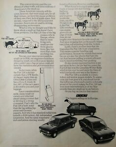 Fiat 128 Car Original Print Ad Automobile Vintage European Advertising