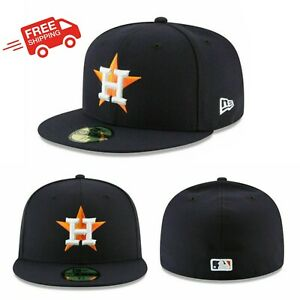 Houston Astros HOU MLB Authentic New Era 59FIFTY Fitted Cap 5950 Hat Navy