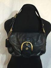 COACH SOHO Buckle Black Leather Flaptop Shoulder Bag  MO773-11840