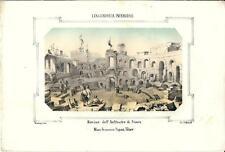 Stampa antica NIMES Anfiteatro Francia 1857 Ancien Gravure Old antique Print