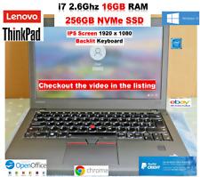 Lenovo ThinkPad x270 i7 2.6Ghz 16GB RAM✔️ 256GB SSD✔️ IPS Screen ✔️BL KB✔️✔️