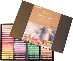 Mungyo Gallery Artists' Soft Oil Pastel Set 72 Assorted Color Pastels MOPV-72