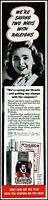 1943 Woman smoker Raleigh cigarettes war stamps vintage photo print ad ads77