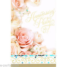 ANNIVERSARY Dazzling Bouquet INVITATIONS (8) ~ Party Supplies Stationery Invites