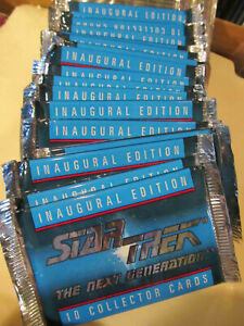 STAR TREK The Next Generation Inaugural Ed. collector card packs (19) 1992 NEW