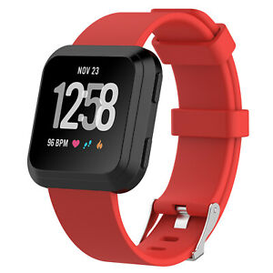 US Replacement Silicone Milanese Stainless Steel Watch Band For Fitbit Versa jk